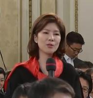 '질문 태도 논란' 김예령 전 기자, 미래한국당 공천 면접