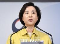 [TF포토] 개학 추가 연기 발표하는 유은혜 부총리