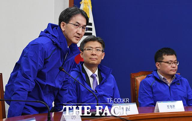 비례대표 후보 8번 정필모 전 KBS 부사장(왼쪽)
