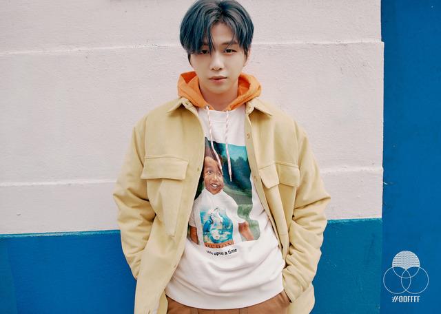 강다니엘이 지난 24일 첫 번째 미니앨범 CYAN을 발표했다. 타이틀곡 2U를 비롯해 총 5곡이 수록됐다. /커넥트엔터 제공