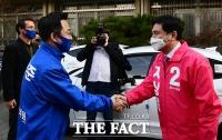 [TF포토] 박성준-지상욱, '좋은 승부 기대하겠습니다'