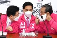 [TF포토] 선거대책 논의하는 황교안-신세돈