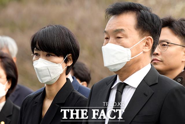 김정화 민생당 공동대표(왼쪽)과 손학규 민생당 상임선거대책위원장