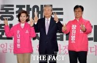 [TF포토] 나경원-장진영 후보 만난 김종인 위원장
