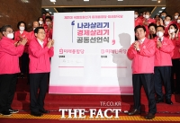 [TF포토] 미래통합당-미래한국당, '공동 선언식!'