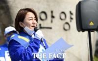 [TF포토] 안양시청 앞에서 기자회견 갖는 이재정 후보