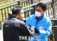 [TF사진관] '동대문 민심 잡아라!'...주말 유세 나선 민병두 후보