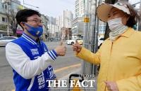 [TF사진관] '포용국가 건설' 앞세운 영등포을 김민석