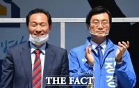 [TF사진관] '동대문' 장경태 지원사격 나선 '서대문' 우상호