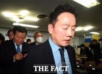 [TF사진관] 열린민주당,'실망스러운 출구조사 결과에 당혹'