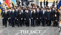 [TF사진관] 더불어민주당-시민당, 현충원 합동 참배