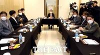 [TF사진관] '프로야구 개막일' 논의하는 KBO 긴급 이사회