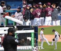 [TF사진관] '터치는 줄이고, 마스크는 필수', 코로나가 바꾼 야구장 풍경