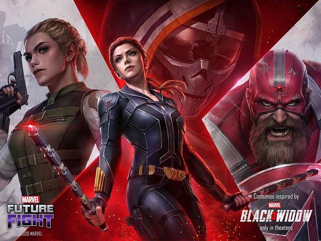 넷마블이 마블 퓨처파이트에 개봉을 앞둔 마블 새 영화 블랙 위도우 테마를 적용했다. /넷마블 제공