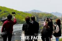 [TF포토] '임진각에서 북녘 바라보는 시민들'