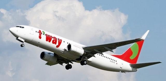 1일 유가증권시장에 상장한 티웨이항공이 공모가를 하회하는 수준에서 거래를 마쳤다. /티웨이항공 제공