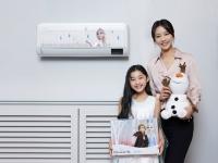겨울왕국2 '엘사' 그려진 삼성 무풍 에어컨 2020대 한정 판매