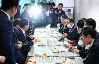 [TF포토] 한자리에 모인 미래통합당 3선 당선자들