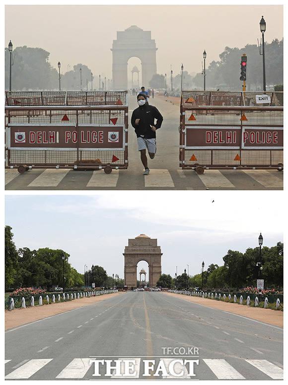 세계 최악의 미세먼지로 뿌연 대기에 휩싸였던 인도에서도 미세먼지가 눈에 띄게 줄었다.