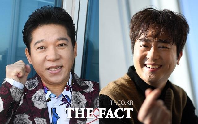 태진아, 송대관 선배님도 곡 수로 말하지 않느냐? 박상철(왼쪽)은 2일 방송된 KBS 2TV 불후의 명곡-전설을 노래하다 특집에 출연해 박현빈과 히트곡 메들리로 맞섰다. /더팩트 DB