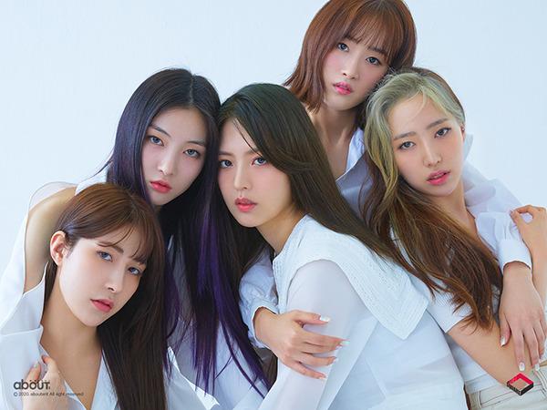 레드스퀘어는 2017년 데뷔한 10인조 걸그룹 굿데이 멤버들 중 4명이 포함됐다. 19일 데뷔 앨범 PREQUEL(프리퀄)을 발매한다. /어바웃이엔티 제공