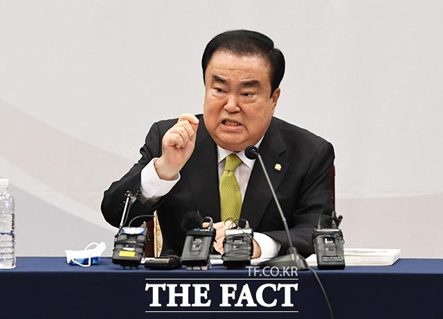 특강하는 문희상 국회의장