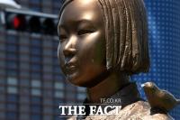 [TF사진관] 얼굴에 상처 입은 '평화의 소녀상'