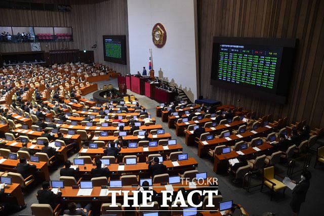 상임위 배정은 여야 의석수에 따라 규모가 달라진다. 때문에 선택지가 많은 여당은 초선 의원들이 모두 원하는 상임위에 갈 수 있다는 전망도 나온다. 지난 20일 열린 국회 본회의 모습. /남윤호 기자