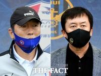 [TF포토] K리그 '수원vs인천', 선수들 바라보는 두 감독