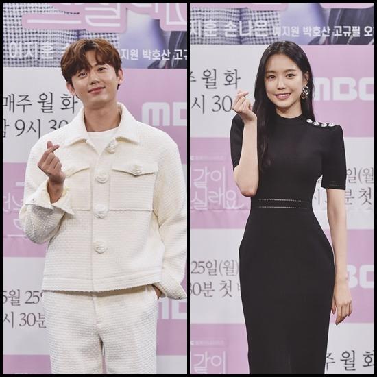 이지훈(왼쪽)은 프리랜서 의학전문기자 정재혁으로, 손나은은 피트니스 트레이너이자 인플루언서 진노을 역을 맡아 극에 활기를 더한다. /MBC 제공