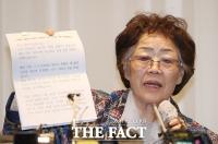 [TF포토] 윤미향 관련 기자회견 갖는 이용수 할머니