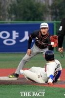 [TF사진관] '연예인 야구대회' 오만석, '도루의 진수'