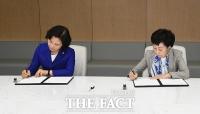 [TF포토] 법무부-국가인권위원회, 인권경영을 위한 업무협약 체결