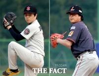 [TF사진관] '연예인 야구대회', 선발 투수로 출전한 백종승-신동현