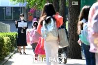 [TF포토] 등교하는 초등학교 1,2학년 학생들