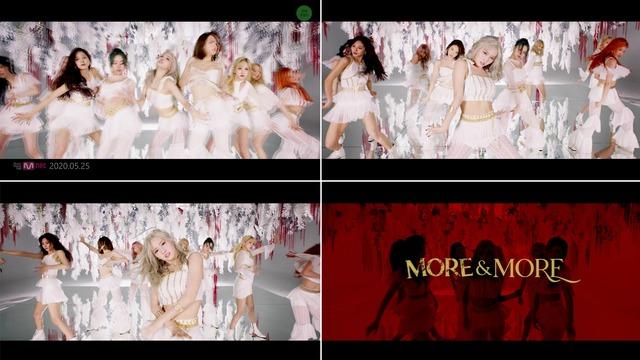 트와이스가 신곡 MORE & MORE를 통해 난이도 최강의 퍼포먼스를 펼친다. 센터 모모를 포함한 아홉 멤버들이 완벽하게 합을 이뤄 매혹적인 동작을 완성했다. /JYP엔터 제공