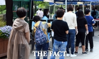 [TF포토] 여의도 워킹스루 선별진료소 찾은 시민들