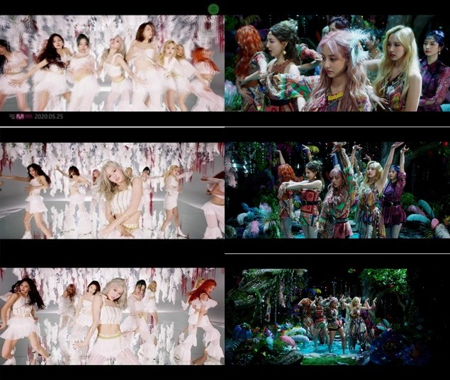 트와이스는 센터 모모를 포함한 아홉 멤버들이 완벽하게 합을 이룬 댄스 브레이크를 비롯해 부드러운 느낌과 절도 있는 안무가 조화를 이룬 매혹적인 퍼포먼스로 단번에 시선을 사로잡는다 /JYP엔터 제공