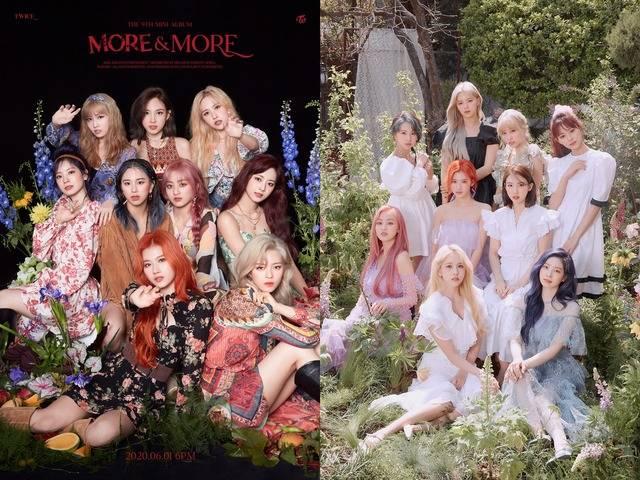 트와이스가 지난 1일 9번째 미니앨범 MORE & MORE를 발표했다. Dance The Night Away 이후 2년 만에 여름에 컴백한 트와이스는 특유의 청량함에 도발적인 매력을 더했다. /JYP엔터 제공