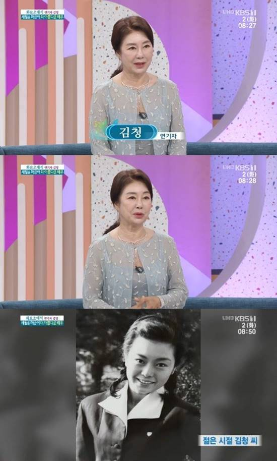 배우 김청이 아침마당에 출연해 강원도에서 귀농 생활을 하고 있다며 근황을 공개했다. /KBS1 아침마당 캡처