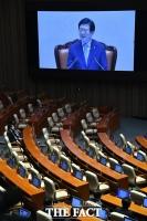 [TF포토] 의장 선출된 박병석… '경북 자리는 텅텅'