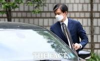 [TF포토] 법원 도착한 조국 전 장관
