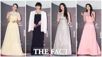 [TF사진관] '알록달록한 색의 향연'...여배우들 빛내는 화려한 드레스