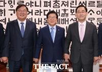 [TF사진관] 국회 원구성 법정시한 하루 앞… '머리 맞댄 여·야'