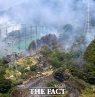 [TF포토] 화재 연기 가득한 금정산 일대