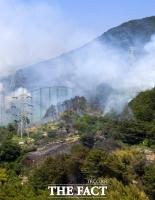 [TF사진관] 경남 양산 산불 발생…'대응 1단계 발령'