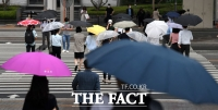 [TF포토] 퇴근길 찾아온 빗방울