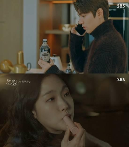 SBS 더킹-영원의 군주는 극 중 배우들이 사용하고 먹고 마시는 것들이 PPL의 소재로 사용되면서 시청자들의 눈살을 찌푸리게 했다. /SBS 더킹-영원의 군주 캡처