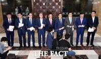 [TF사진관] 통합당 3선 의원, '원구성 협상 관련 성명서' 발표