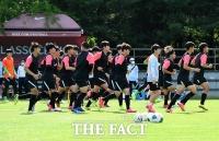 [TF포토] 구슬땀 흘리는 U-19 선수들
